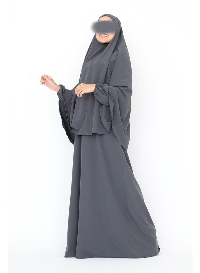 Basic Abaya - donkergrijs