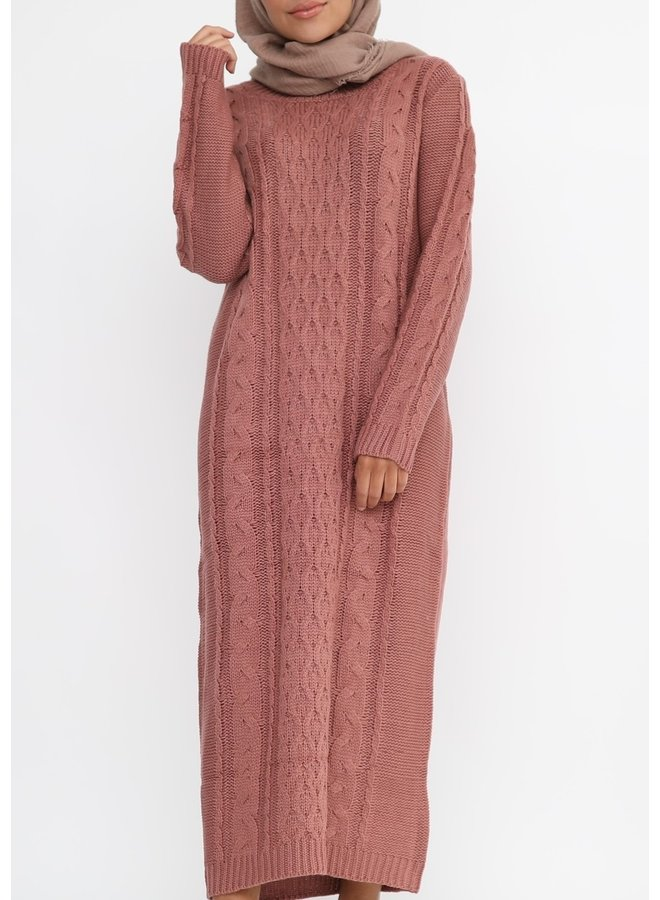 Sweater with pattern -pink