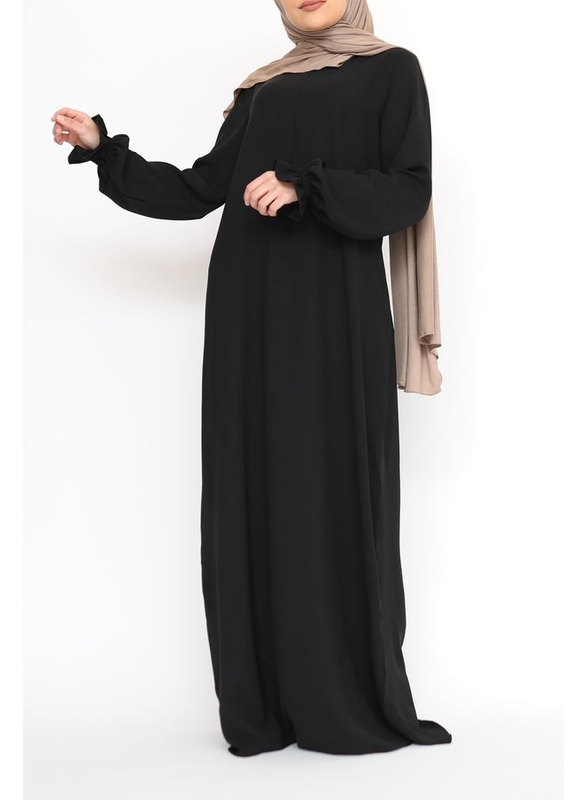 Pofmouw Abaya - Zwart