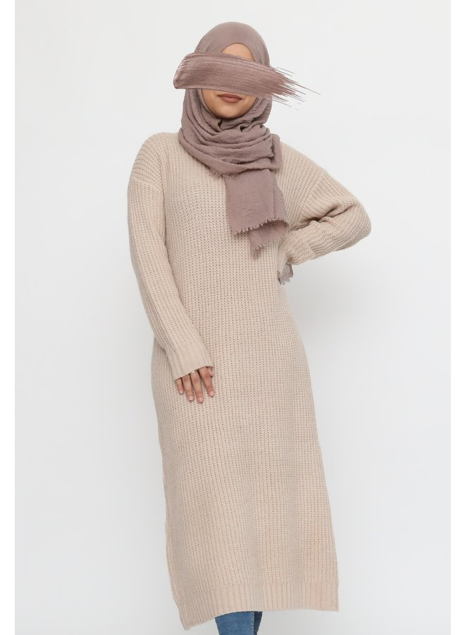 Lange warme trui - creme