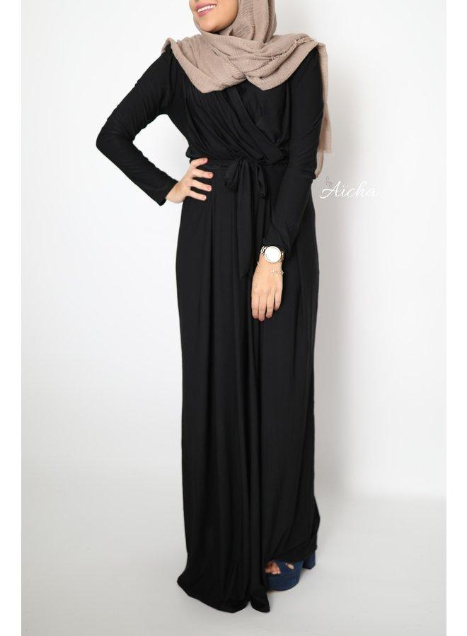 Classy maxi jurk - zwart