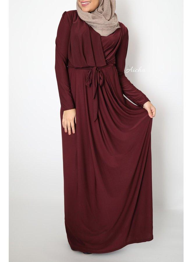 Classy maxi dress - bordeaux