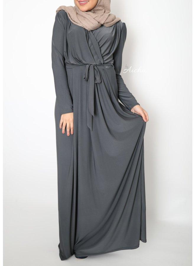 Classy maxi dress - gray