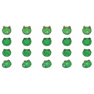 Sticker sheet with emotion frogs HB 2