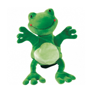 Hand puppet frog