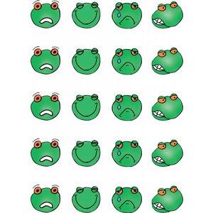 Feuille d'autocollants grenouille émotion 1 et 2