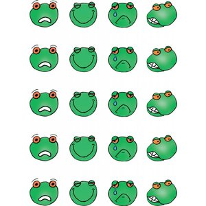 Sticker sheet with emotion frogs HB 1 and HB 2