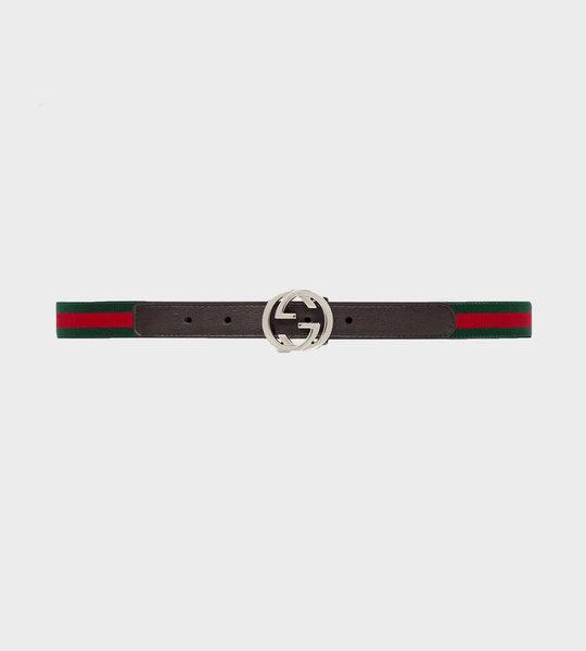 Interlocking Web Belt Brown