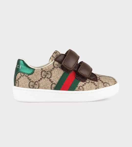 Toddler Ace GG Supreme Sneaker Beige