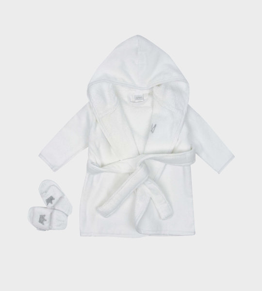 Bathrobe And Slippers Giftset White