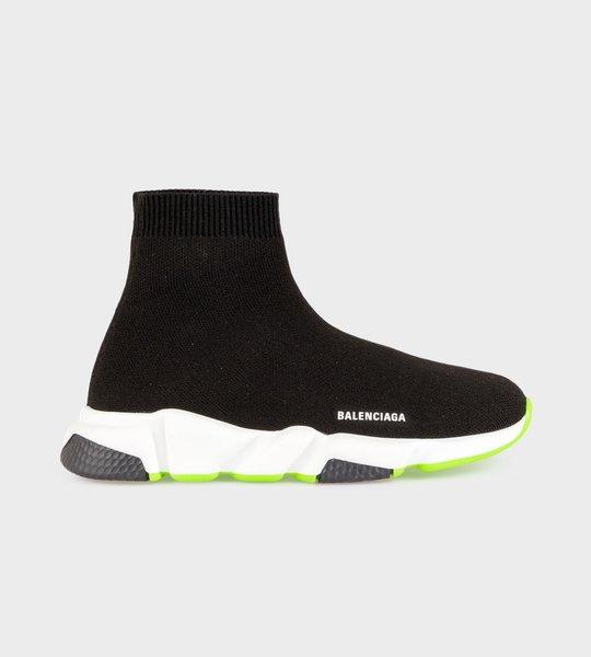 Logo Speed Sock Sneaker Neon Yellow/Black