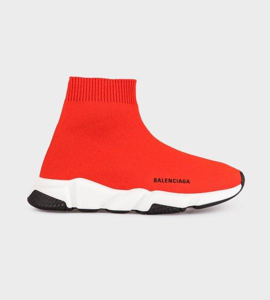 Logo Speed Sock Sneaker Red