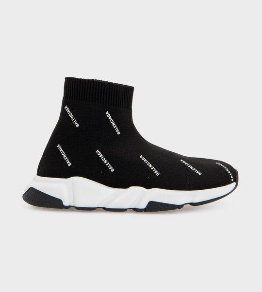 All-over Logo Speed Sock Sneaker Black
