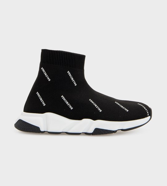 Speed Sock Sneaker All Over Print Black