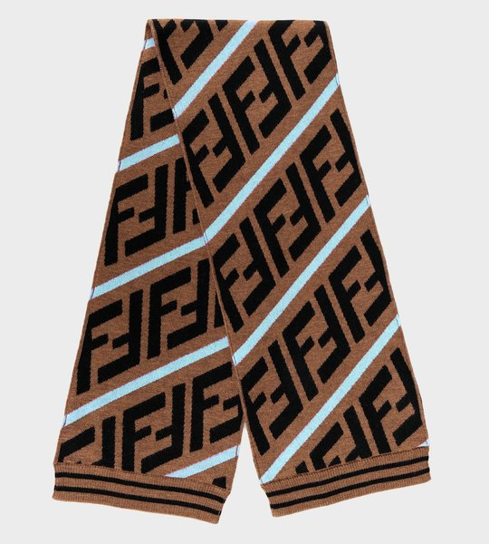 Iconic Logo Scarf Brown/Blue