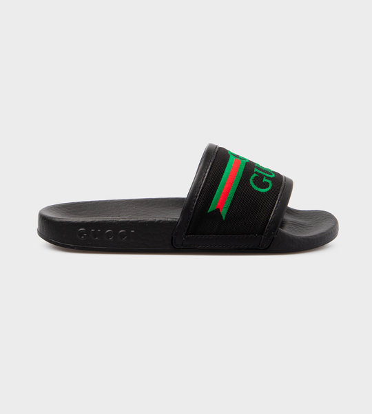Logo Print Slides Black