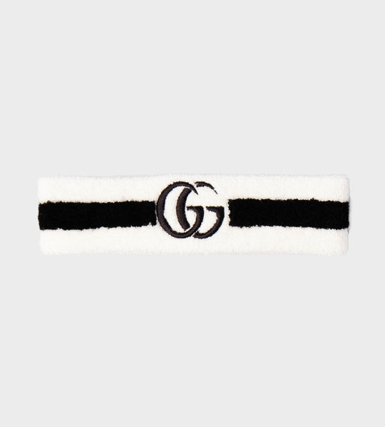GG Headband White/Black
