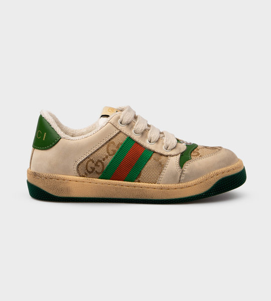 Screener Sneaker Beige/Green