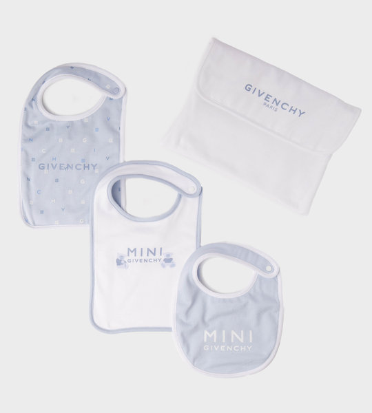 3 Piece Set Bib Blue