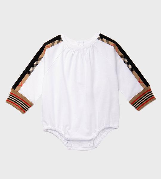Babysuit Check Long Sleeves Girls