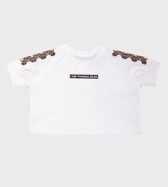 Baby Thomas Bear Sweat Shirt White