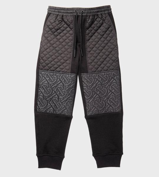 Monogram Quilted Sweat Pants Black