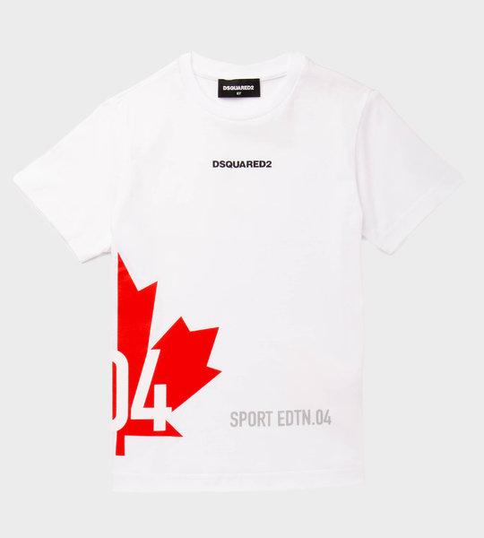Sport Red Logo T-Shirt White