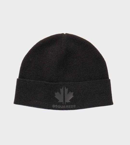 Knit Logo Hat Black