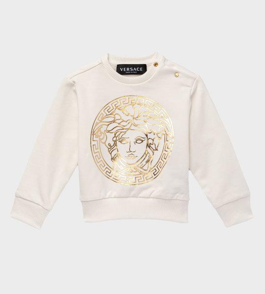 Baby Medusa Sweater Ivory/Gold