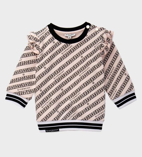 Baby Chain Logo Sweater Pink