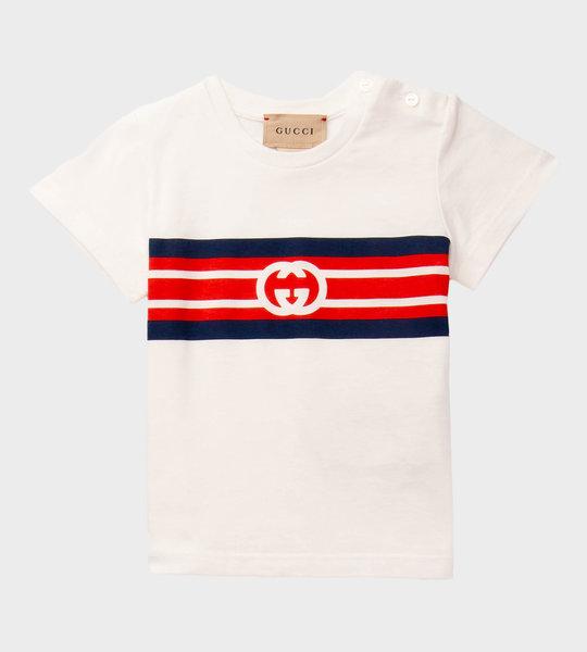 Baby Interlocking G T-Shirt White