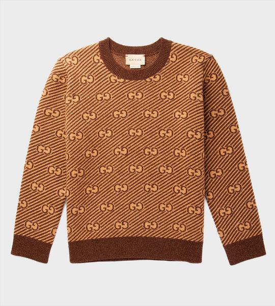 GG Wool Jumper Brown