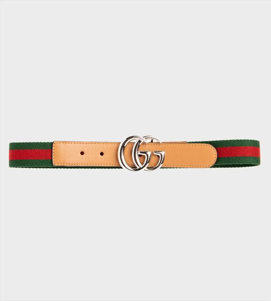 GG Marmont Web Belt Beige