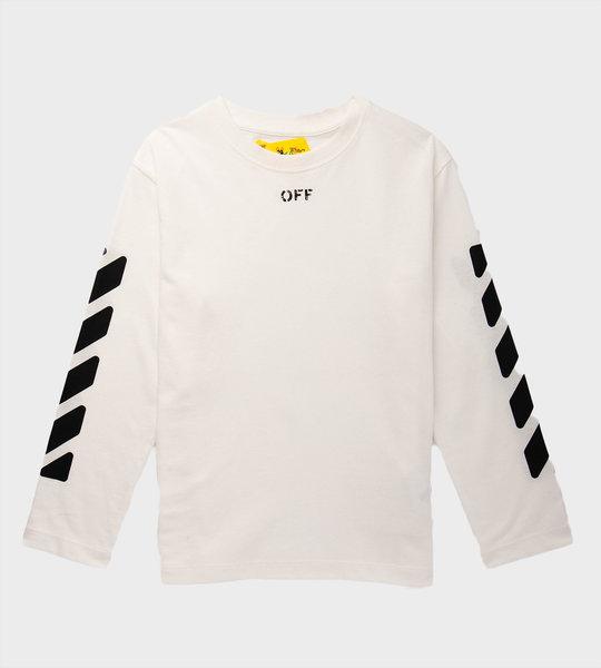 Script Logo Long Sleeves White