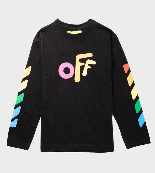 Off  Logo Long Sleeves Black