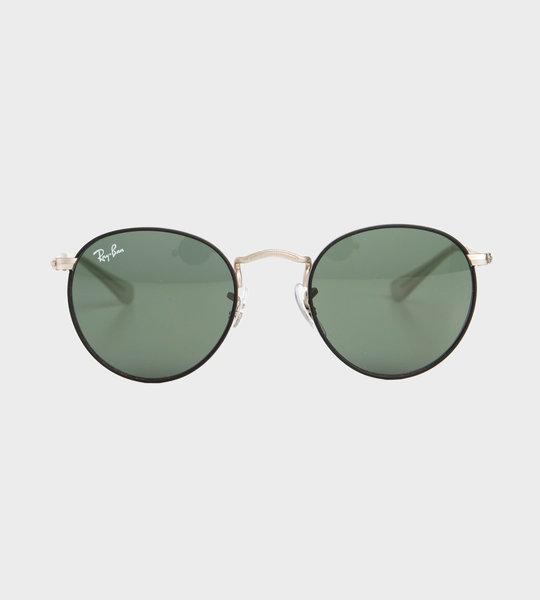 Junior Round Sunglasses Black/Silver