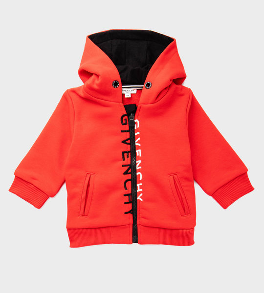Baby Hooded Cardigan Red