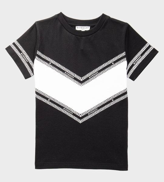 T-shirt With V-Cut Black
