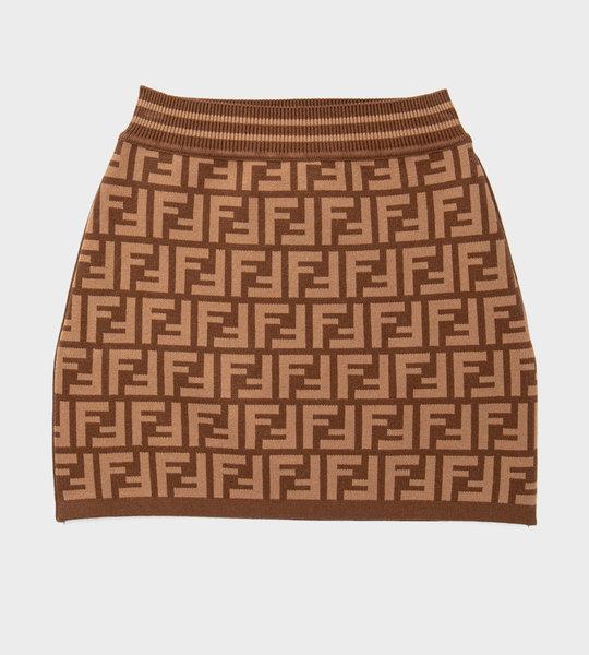 Logo Skirt Brown
