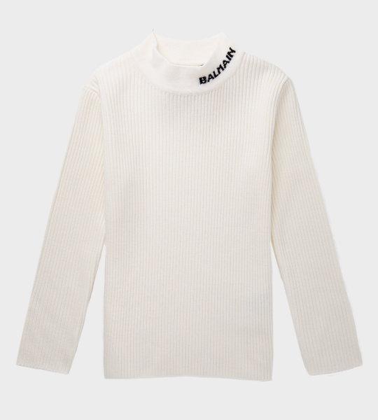 Logo Knitwear White