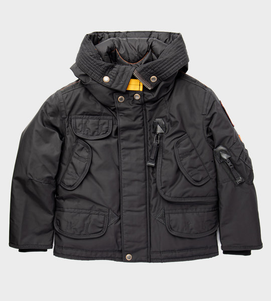 Multi Pocket Logo Jacket Black