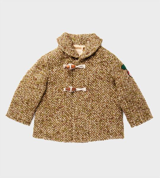 Baby Herringbone Wool Coat