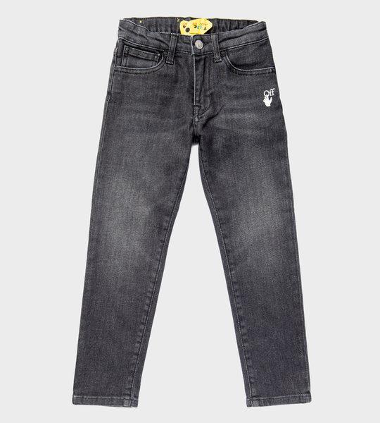 Off-hand Logo Denim Jeans Black