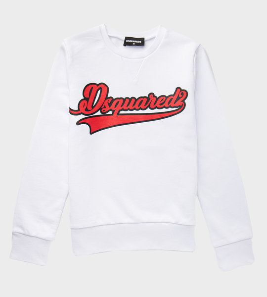 Logo Sweater White