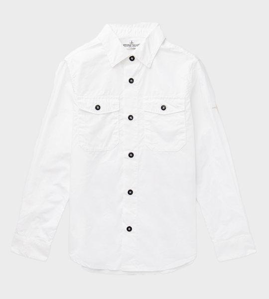 Embroidered Logo Shirt White
