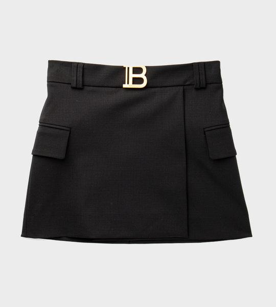 Logo Skirt Black