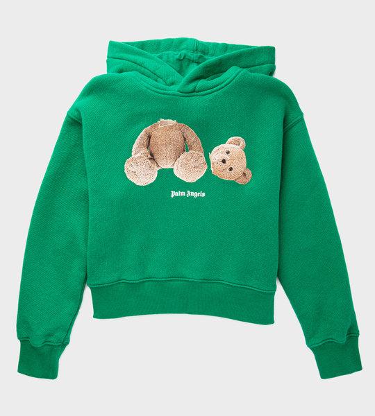 Bear Logo Hoodie Green
