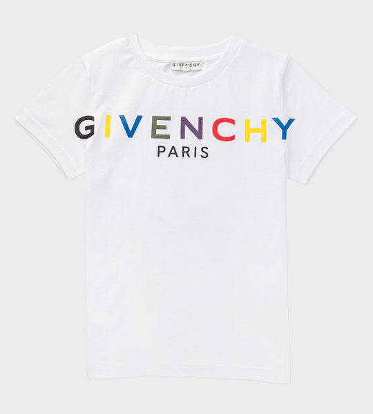 Colourful Oversized Rubber Logo T-shirt White