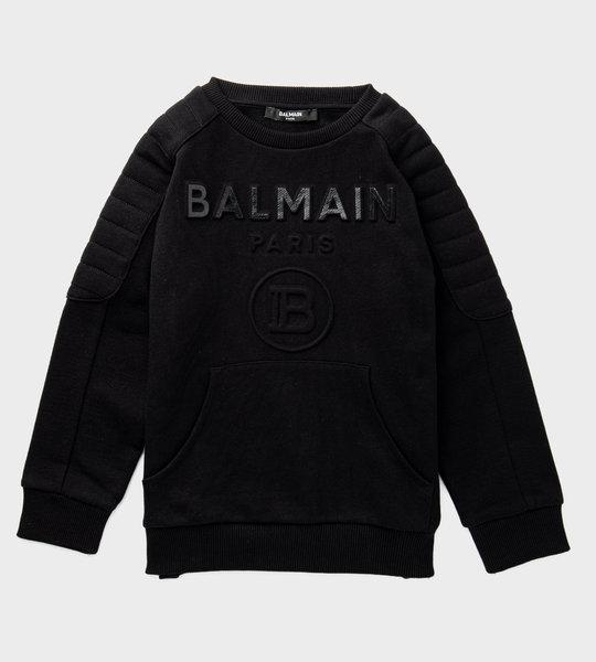 3D Embossed Logo Sweater Black