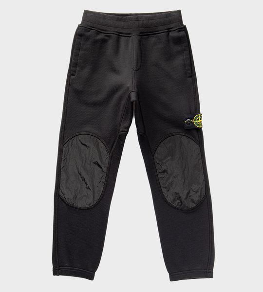 Nylon Knee Patch Logo Sweatpants Black